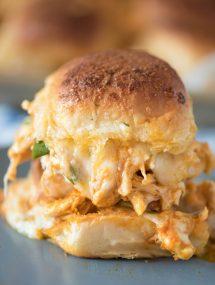 Cheesy Buffalo Chicken Sandwich Recipe | @gogogogourmet