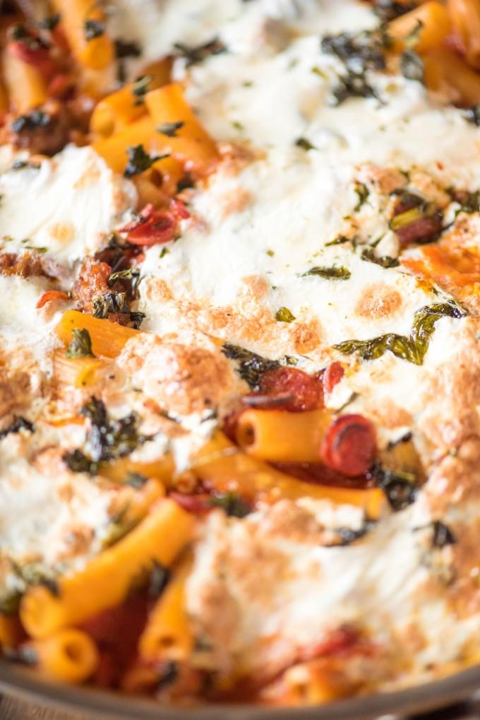 Cheesy Pizza Pasta Bake Recipe | @gogogogourmet