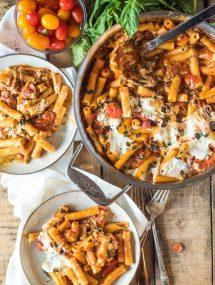 Cheesy Pizza Casserole | @gogogogourmet