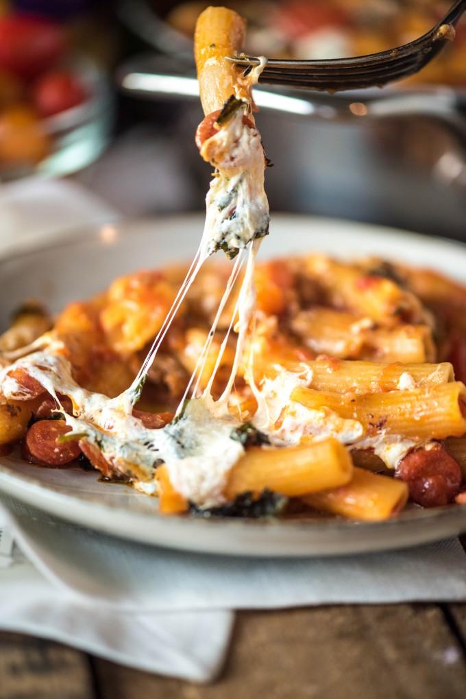Cheesy Pizza Casserole Recipe | @gogogogourmet