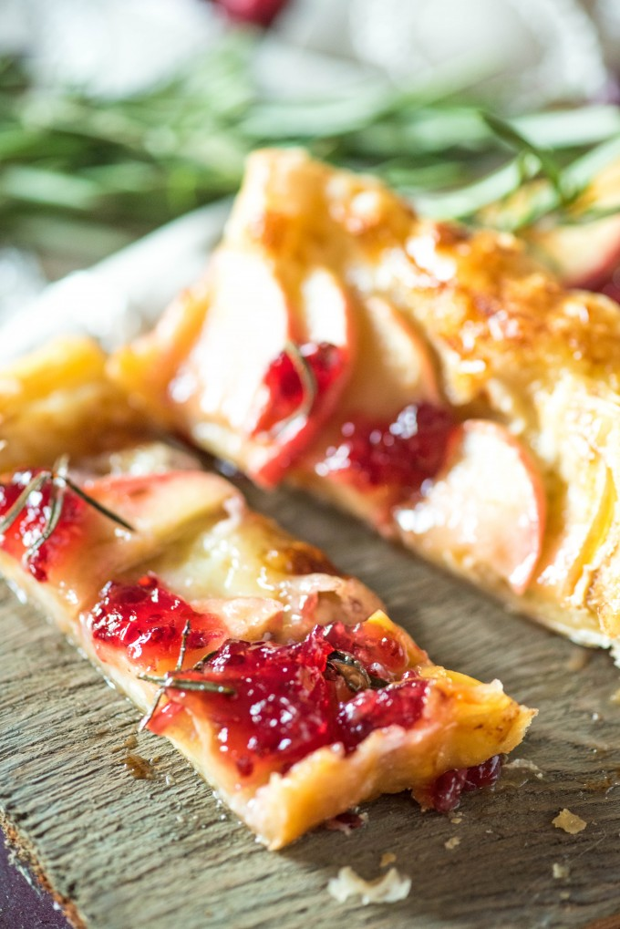 Red Currant Apple Brie Puff Pastry Tarts | @gogogogourmet