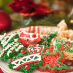 Rice Krispie Cutouts on a white plate - christmas desserts