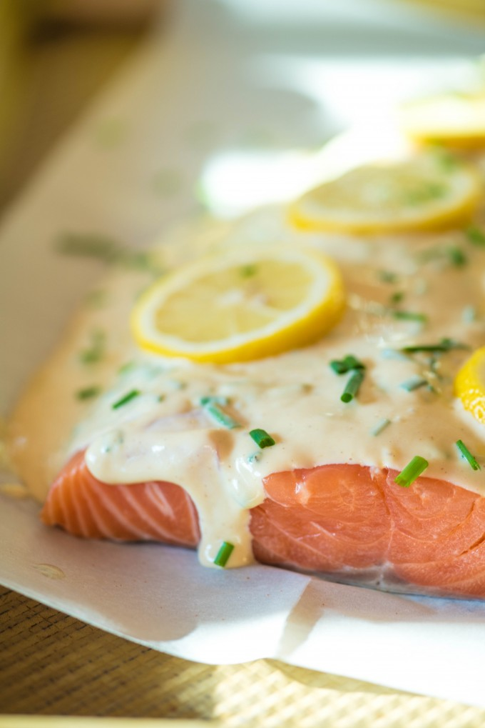Simple and easy oven baked lemon salmon recipe | @gogogogourmet