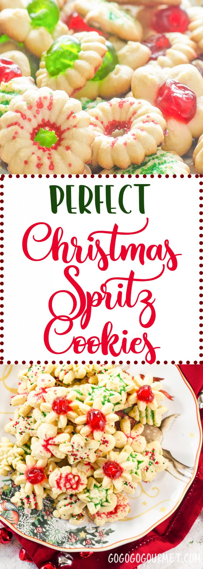 This is the best classic spritz cookie recipe out there! Perfect for Christmas cookie exchanges! A hint of almond, these cute little shapes are so fun to decorate! |