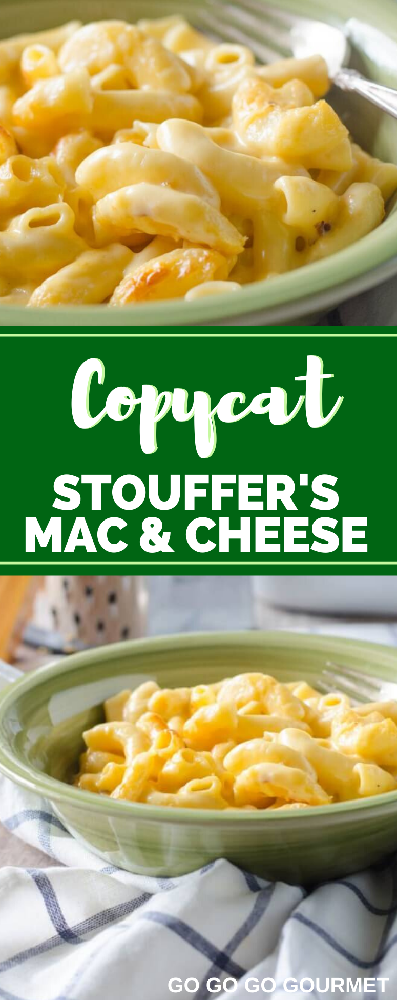 This Copycat Stouffer's Mac and Cheese recipe is the best comfort food hack! This creamy, cheesy dinner idea will leave you wanting more! #copycatrecipes #macandcheese #souffersmacandcheese #easydinnerrecipes #gogogogourmet via @gogogogourmet