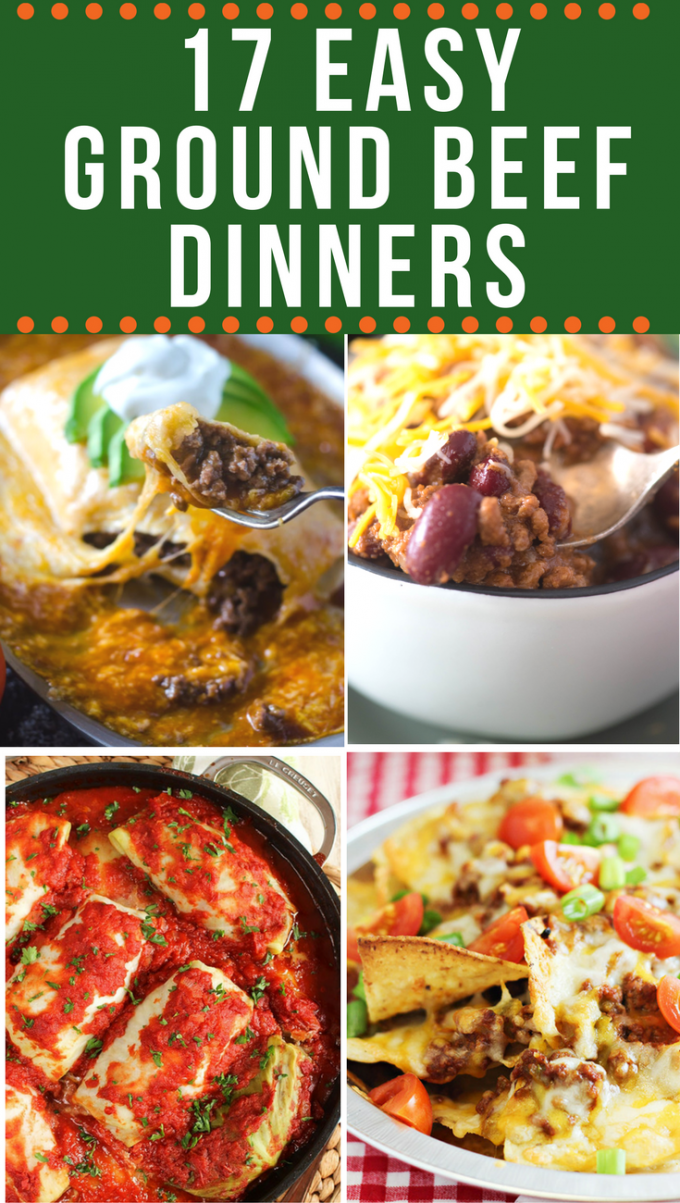 These easy ground beef recipes take the guesswork out of trying to figure out a dinner recipe with one of the most versatile ingredients out there! Meatballs, chilis, sandwiches and pasta- this blank canvas can do it all! via @gogogogourmet