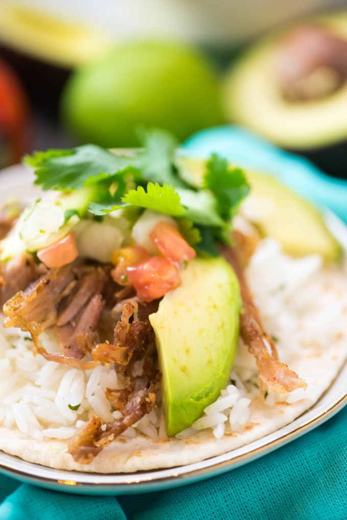 instant pot carnitas recipe in burrito