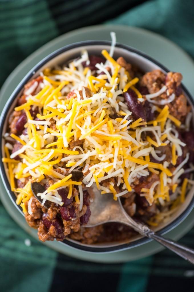 Instant Pot Ground Beef chili | @gogogogourmet
