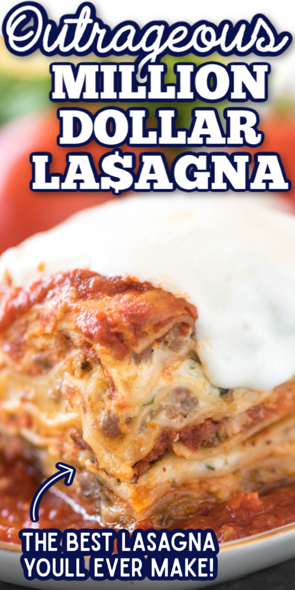 This easy classic lasagna recipe is million-dollar-good! Layers of marinara, Alfredo sauce, sausage, ricotta cheese, herbs and fresh mozzarella! No boil makes it great for busy nights. via @gogogogourmet
