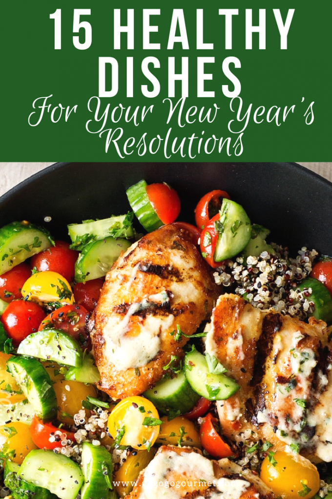 These 15 healthy family recipes will make it easier to stick to your New Year's Resolutions for weight loss! via @gogogogourmet