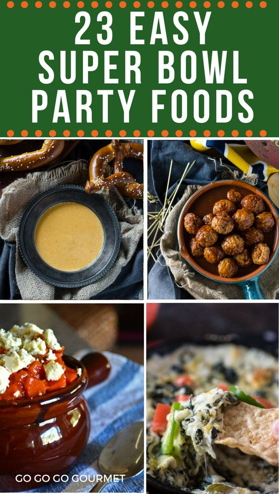 23 super bowl party food recipe ideas go go go gourmet these easy super bowl party food ideas will be a total game changer tons of forumfinder Gallery
