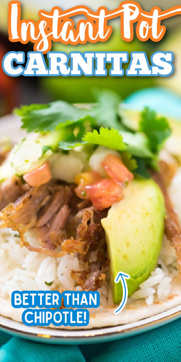 This Instant Pot Pork Carnitas recipe is bursting with authentic flavor! Put it on a crispy taco, or even a rice bowl. Dinner has never been so easy! #instantpotrecipe #instantpotcarnitas #easydinner #gogogogourmet via @gogogogourmet