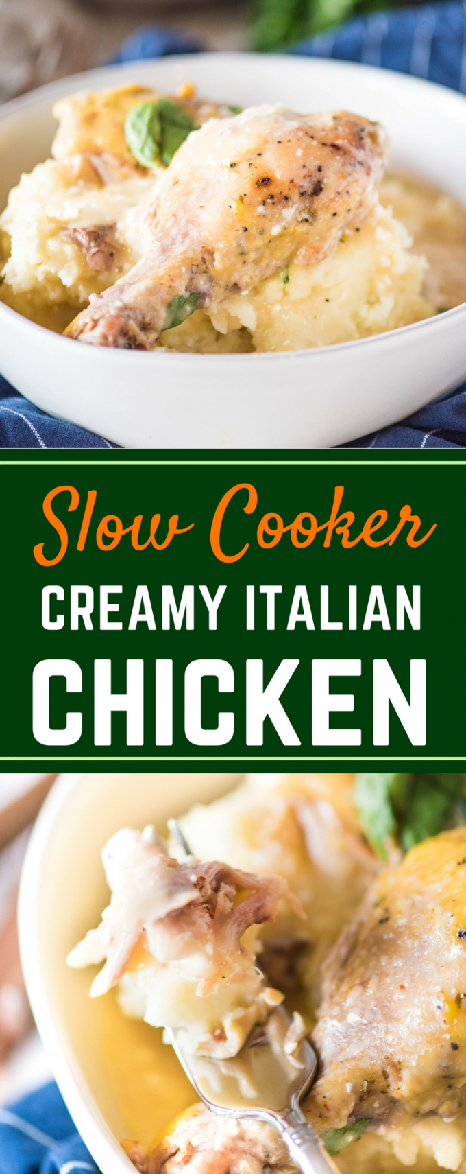 Whether cooked in the crockpot, Instant Pot, or baked, this easy Slow Cooker Creamy Italian Chicken is the ultimate comfort food! It's made deliciously creamy thanks to cream cheese, and tastes best served over rice or pasta. This is a dinner your family will request over and over!