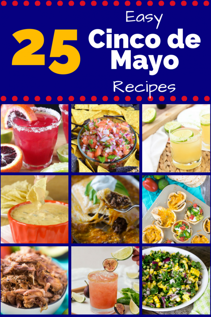 Whether you're cooking for a crowd or yourself, these 25 easy Cinco de Mayo Recipes are the best! With appetizers like queso and dips, and dinners like tacos and burritos, these authentic recipes will have your mouth watering! And don't forget about the fresh squeezed margaritas! #cincodemayorecipes #mexicanfood #easycincodemayorecipes #gogogogourmet
