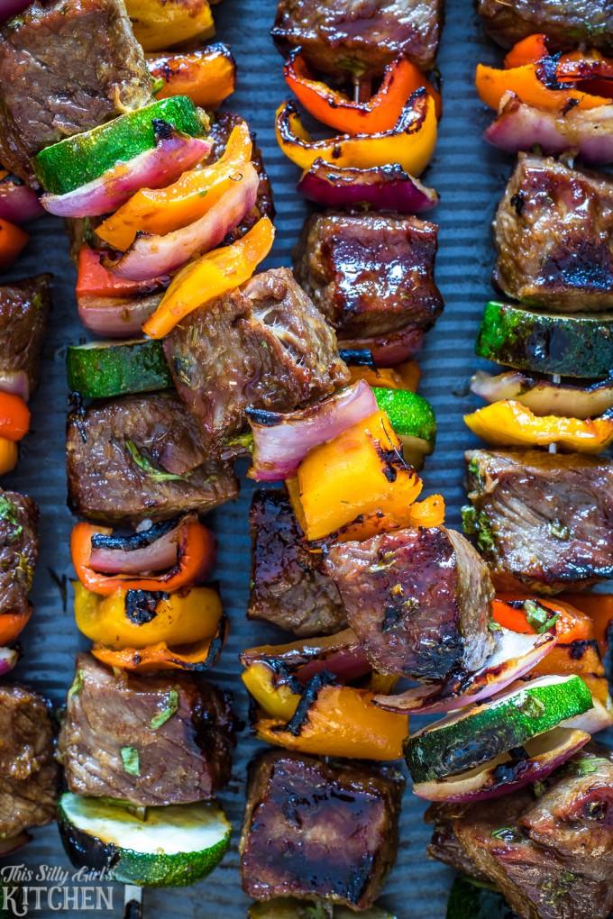 Carne Asada Steak Kabobs
