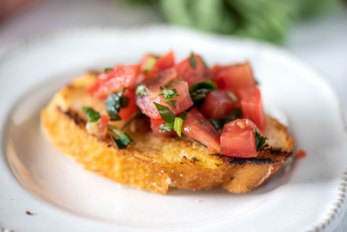Perfect easy bruschetta recipe for entertaining