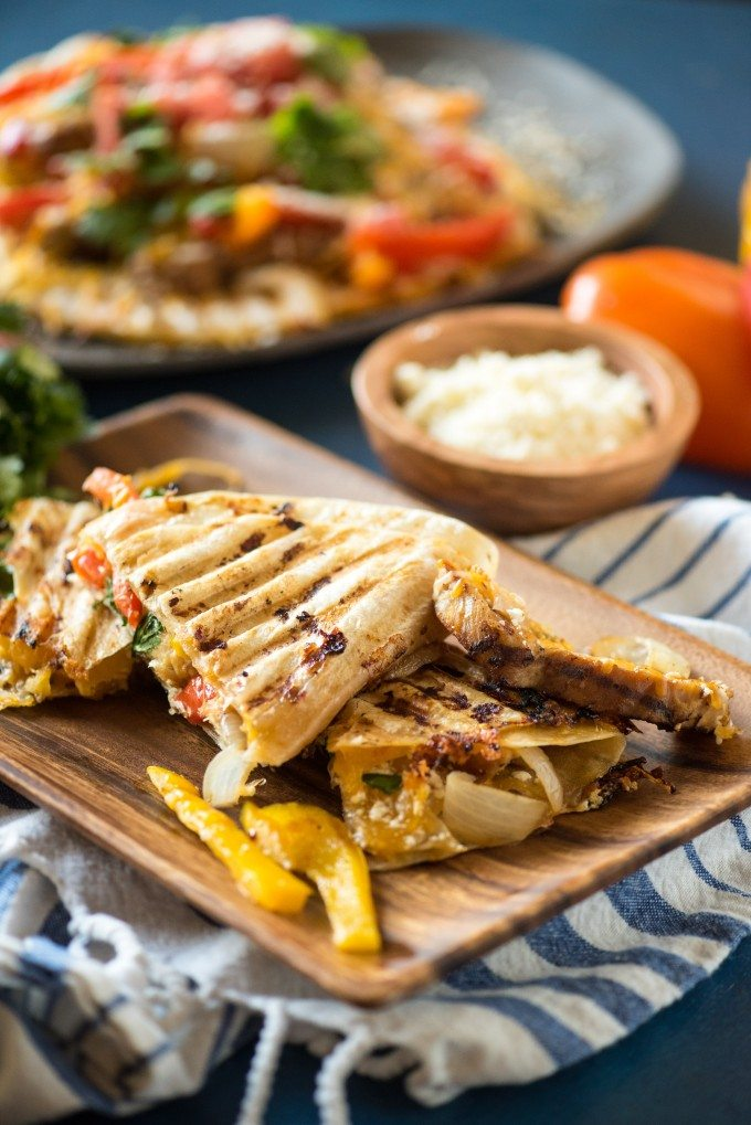Grilled Chicken Quesadilla Panini