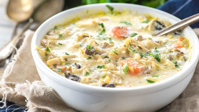Panera Copycat Chicken and Wild Rice Soup made in an Instant Pot