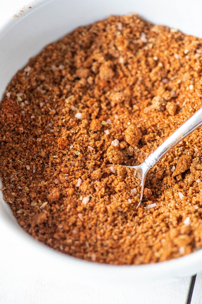 Dry rub BBQ seasoning for ribs