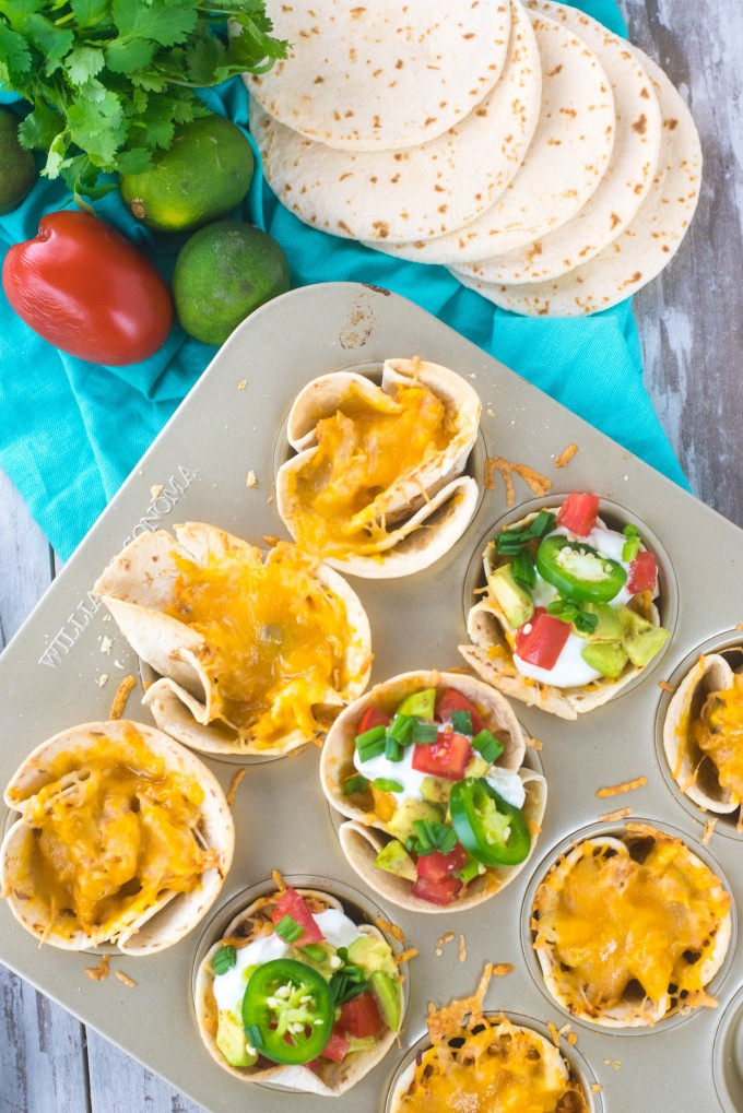 Slow Cooker Chicken Taco Cups