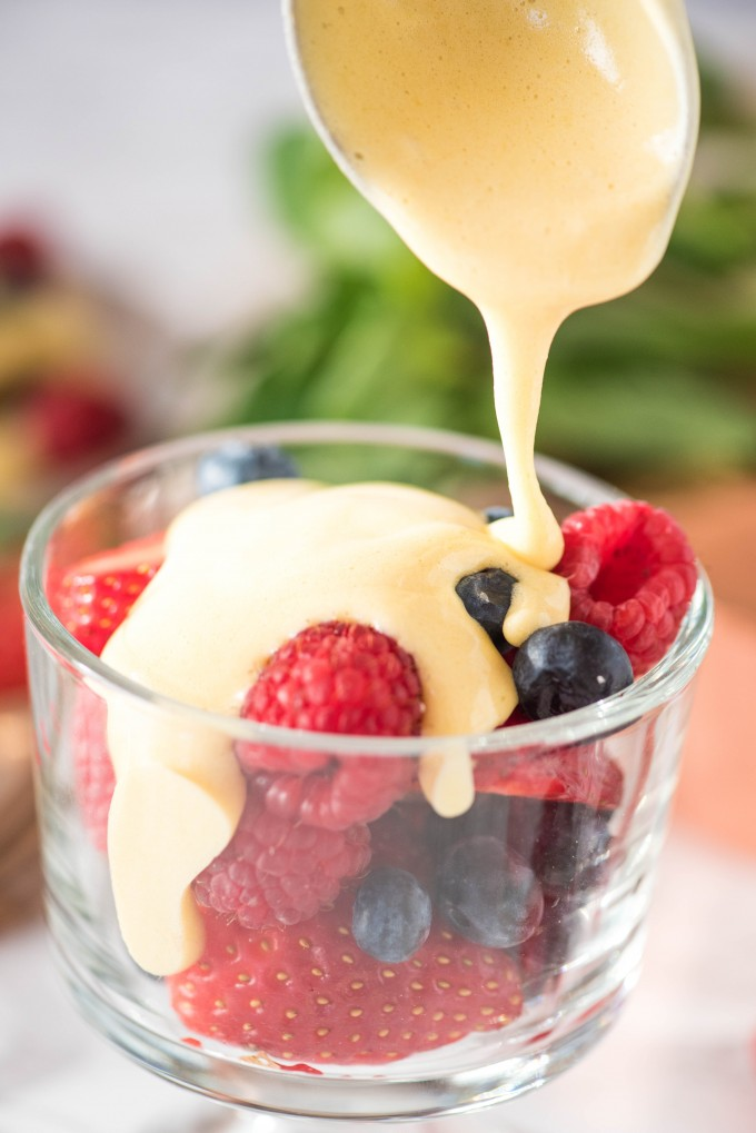 Zabaglione recipe with custard