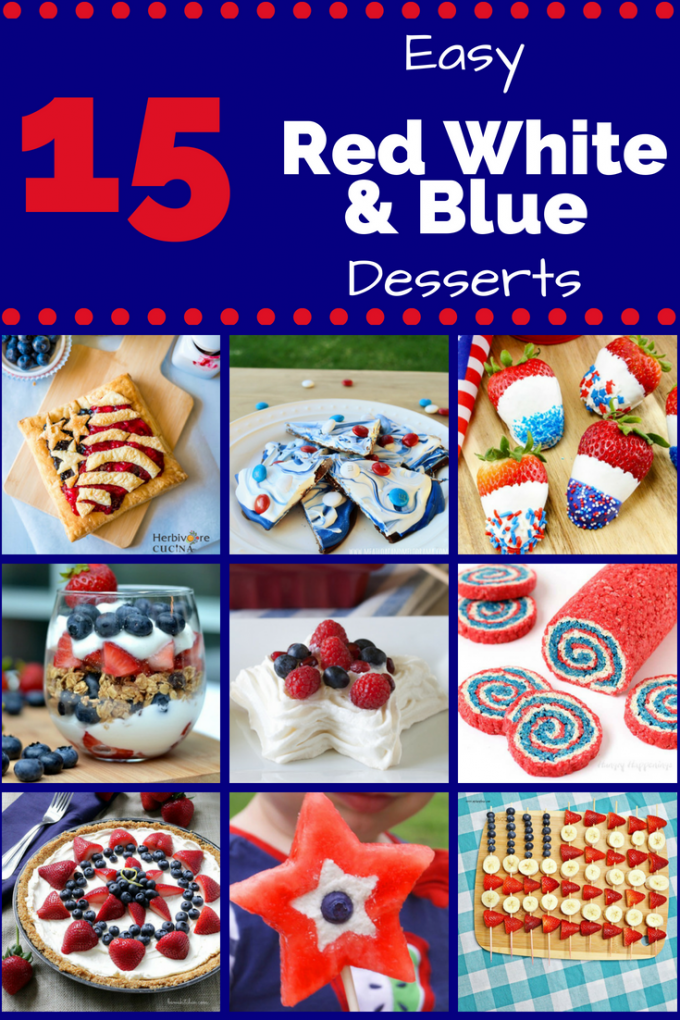 Whether you're looking for red, white and blue desserts for Memorial Day or 4th of July, these easy Red White and Blue Desserts are perfect for any patriotic holiday! With plenty of strawberry and blueberry food ideas, this list is sure to send your next summer picnic over the top! #redwhiteandbluedesserts #memorialdaydesserts #patrioticholidayfood #gogogogourmet