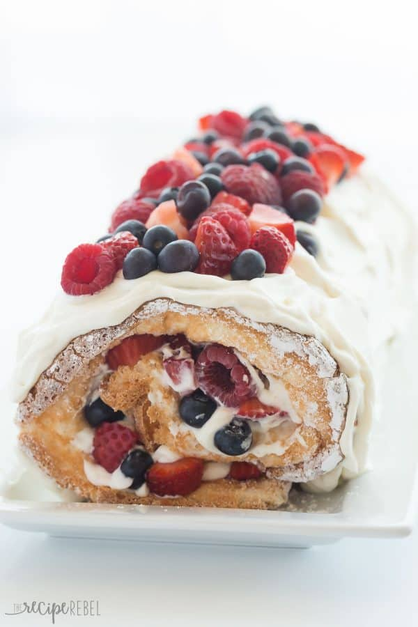 triple berry cake roll