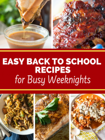 Back to school recipes collage