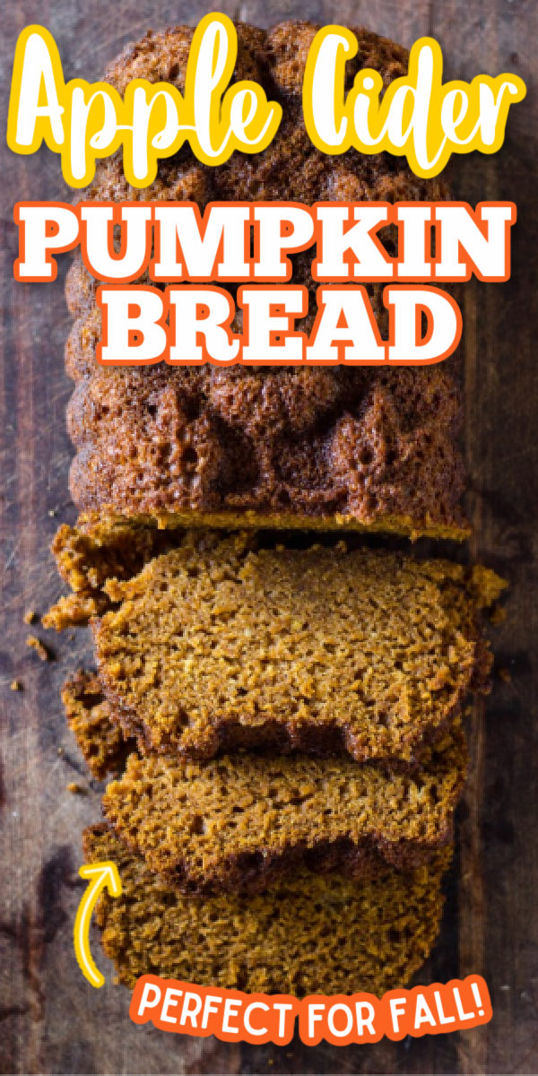 If you're looking for fall recipes and desserts, this is the one for you! This is the best Apple Cider Pumpkin Bread! Easy to make and super moist, this pumpkin bread is full of delicious fall flavors. #gogogogourmet #appleciderpumpkinbread #pumpkinrecipes #applerecipes via @gogogogourmet