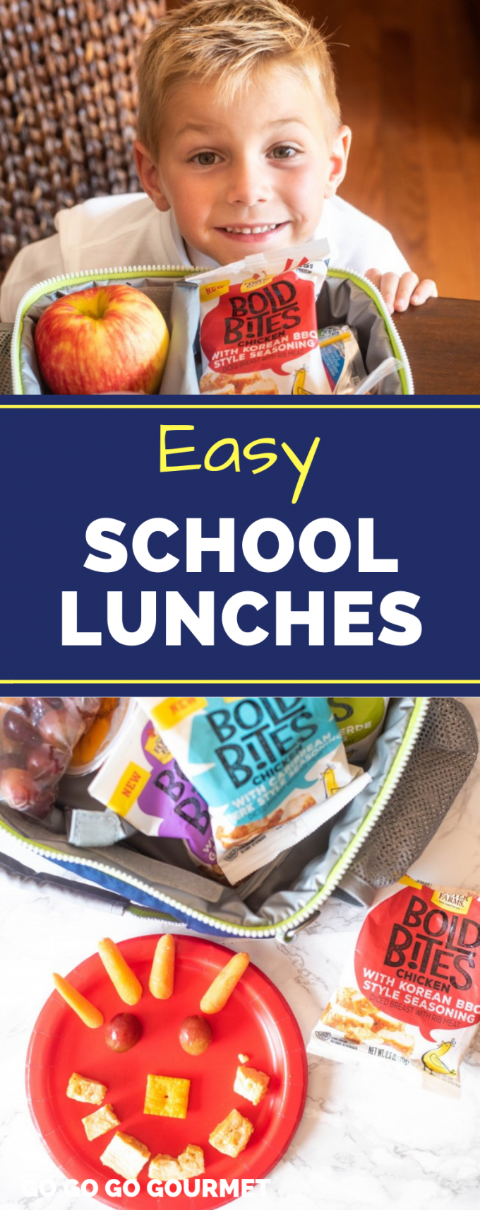 Whether you're making lunches for kids, for teens, or even for picky eaters, with the help of Bold Bites from Foster Farms lunch is made easy! These are lunches that you can make ahead when you need something quick. The best! @izea #ad #easyschoollunches #quickandeasylunches #lunchforkids #gogogogourmet via @gogogogourmet