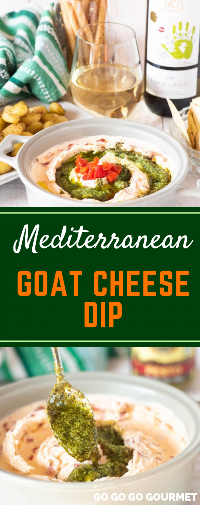This easy Mediterranean Goat Cheese Dip can be whipped up in an instant thanks to Allesi Foods! They have wonderful products like Sun Dried Tomatoes and Extra Virgin Olive Oil that really send recipes over the top! This dip is perfect for all of your dinner parties! #ad #AlessiWay #gogogogourmet #mediterraneangoatcheesedip #easypartyappetizers  via @gogogogourmet