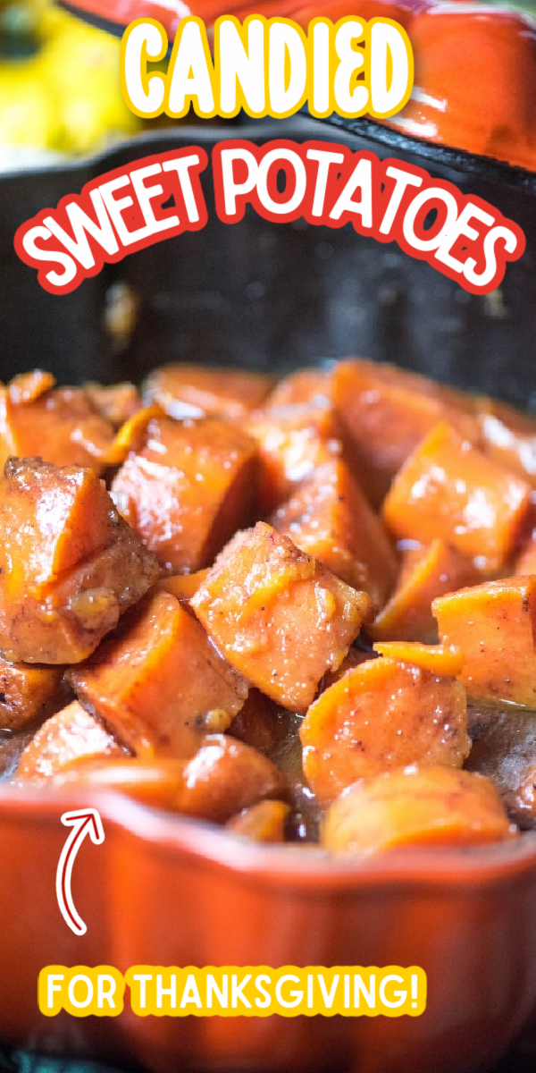 This is one of the best, easy Candied Sweet Potatoes recipes! Baked to perfection in the oven, it makes the perfect side dish for Thanksgiving! Forget the sweet potato casserole topped with marshmallows, this dish is made sweet with plenty of brown sugar. It would even taste great with pecans! #gogogogourmet #candiedsweetpotatoes #thanksgivingsidedishes #thanksgivingrecipes via @gogogogourmet