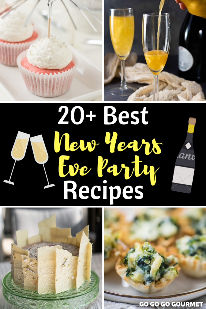From appetizers and desserts to drinks and everything in between, these New Years Eve Party recipes are the best! These easy recipes are even fun for kids, too! These bite size New Years Eve dinner ideas are sure to make everyone happy! #gogogogourmet #newyearseveideas #newyearseverecipes #newyearseveparty via @gogogogourmet