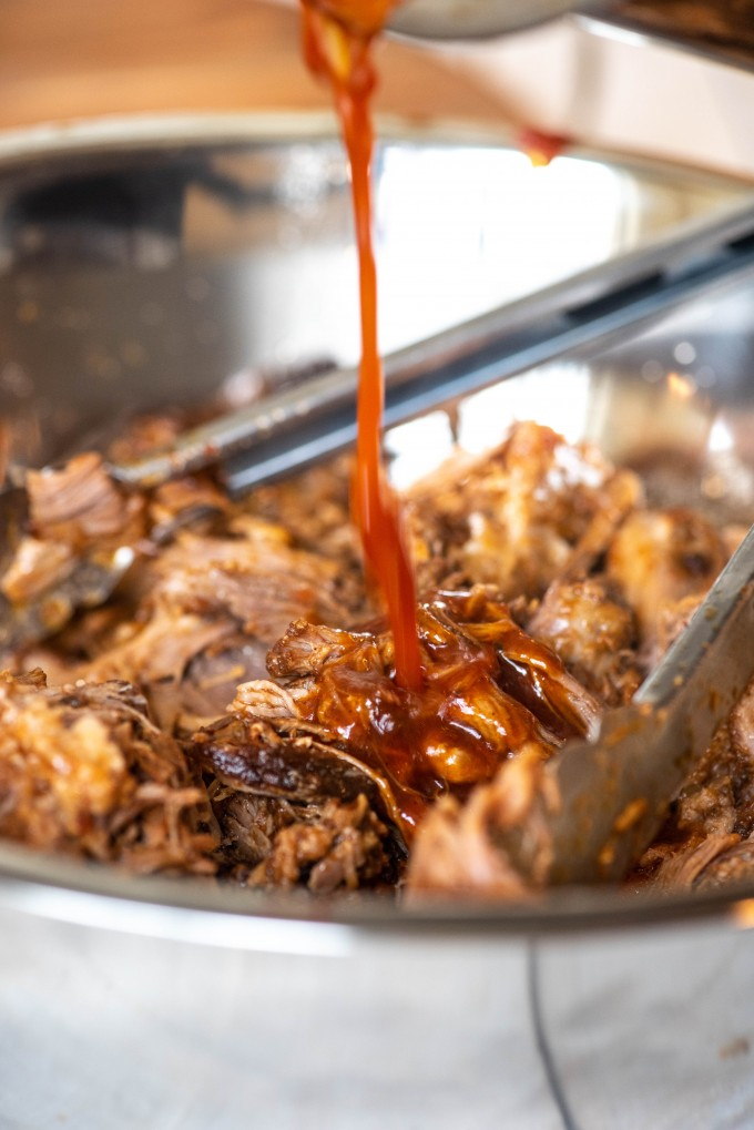 Instant Pot pulled pork with BBQ sauce