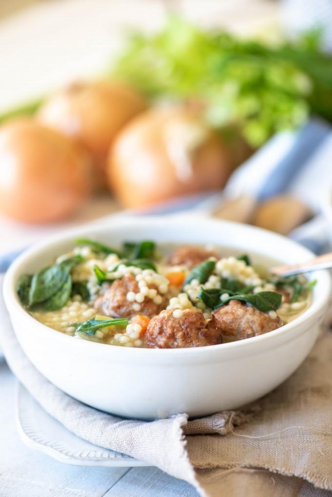 Italian Wedding Soup Recipes.Instant Pot Italian Wedding Soup