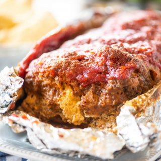 Instant pot meatloaf wrapped in tin foil
