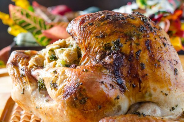 Overhead view of Herb Roasted Turkey