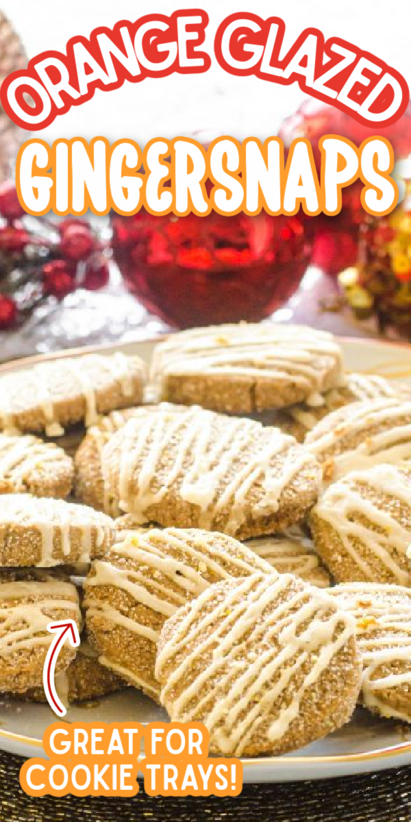This chewy, soft Orange Glazed Gingersnaps recipe is the best! Lightly iced with a delicious orange glaze, this might be your new favorite Christmas dessert! These cookies are perfectly crispy and spicy! #gogogogourmet #orangeglazedgingersnaps #gingersnaps #christmascookies via @gogogogourmet